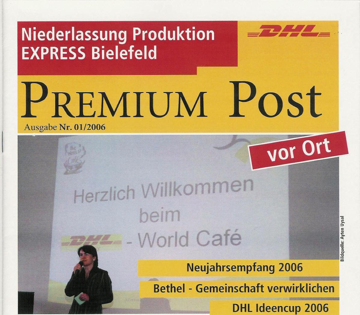Erstes World Café bei der NL Express Bielefeld 2006