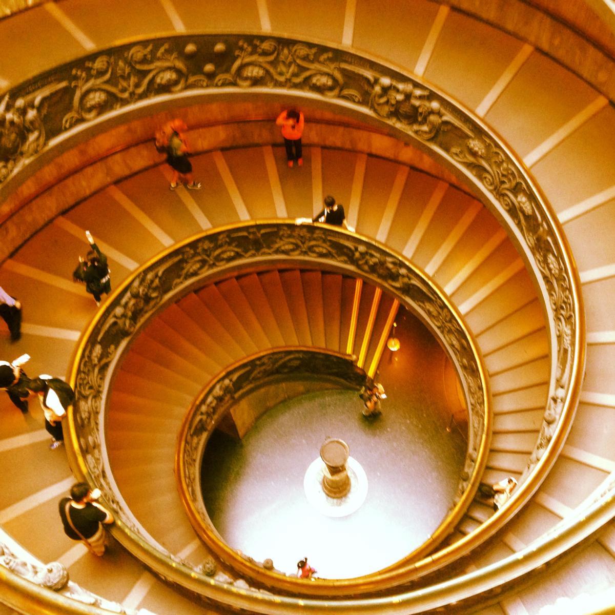 Die Spirale ist ein Zeichen für Entwicklung.