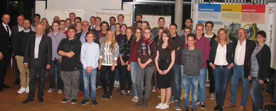 Teilnehmer des Businessplanwettbewerbs in Lippstadt