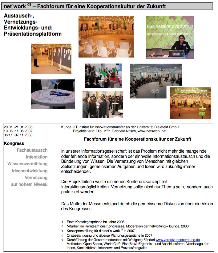 Projektsteckbrief net´s work
